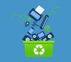 زباله های الکترونیکی,بازیافت زباله های الکترونیکی,روش های دفع زباله های صنایع الکترونیک,لوگوی زباله های الکترونیکی