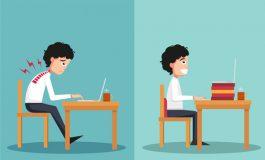 ارگونومی در مدارس,روش صحیح نشتن در نیکمت دانش آموزان,ارگونومی کار با لپ تاپ,ارگونومی نشتن پشت میز,ارگونومی کلاس درس